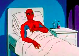 spiderman sleeping