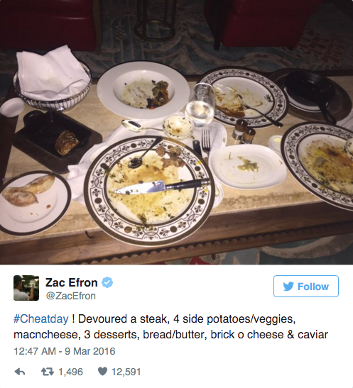 Zac Efron's Epic Cheat Meal with The Rock.