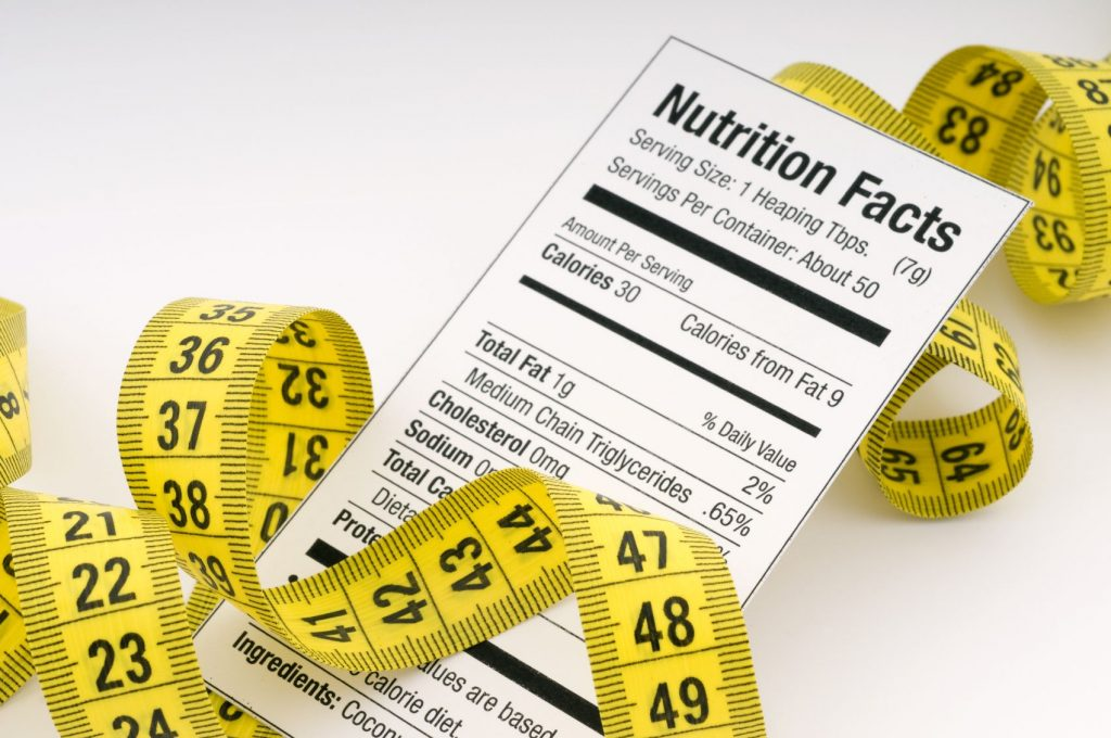 Calorie Nutritional Facts Label