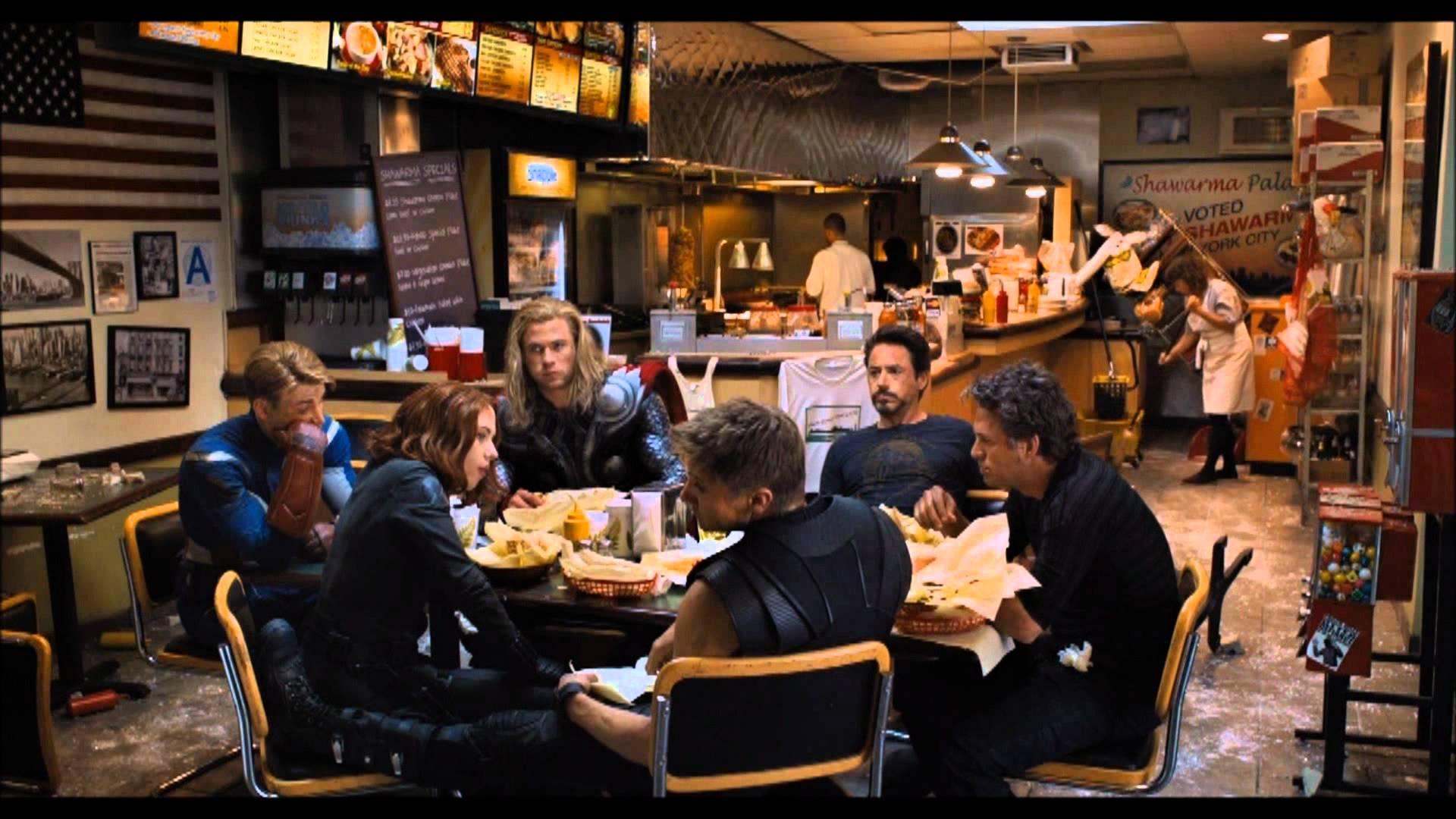avengers eating