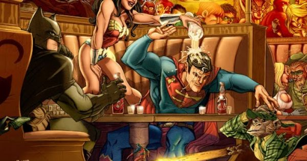 dc characters partying