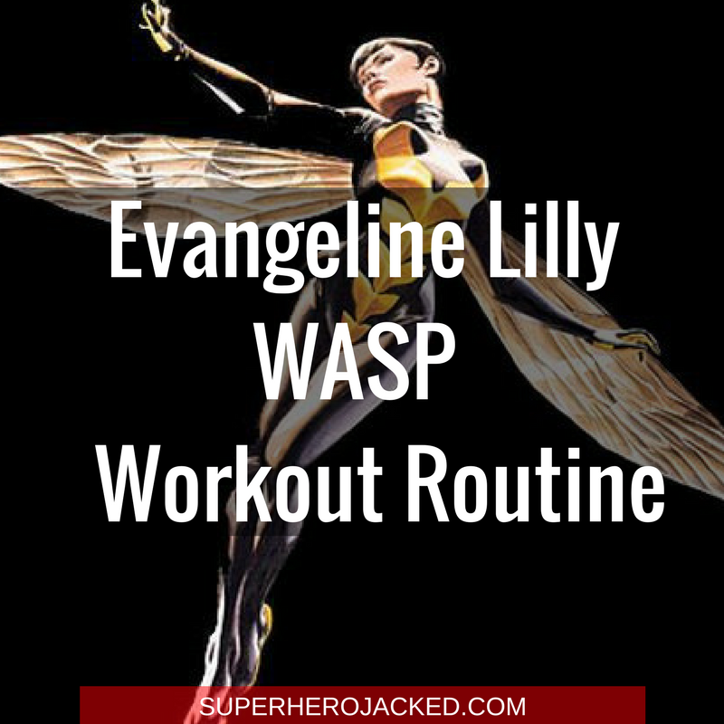 Evangeline Lilly Wasp Workout