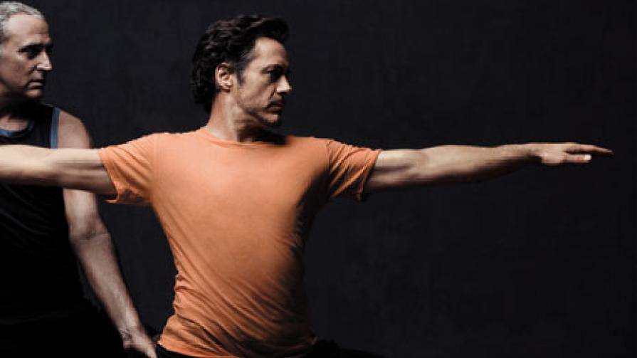 Robert Downey Jr. Yoga Workout