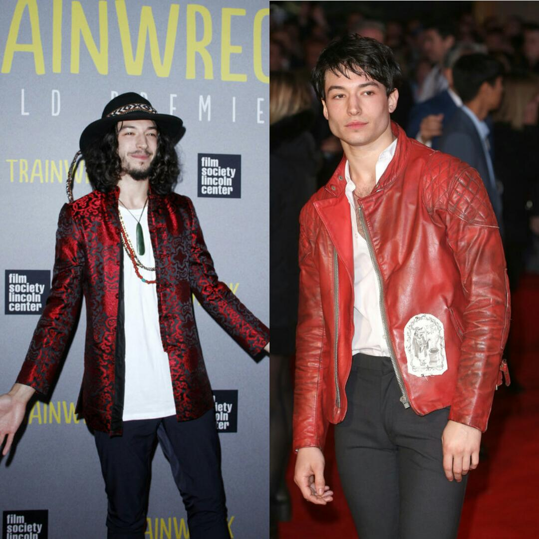 Ezra Miller Before and After Workout