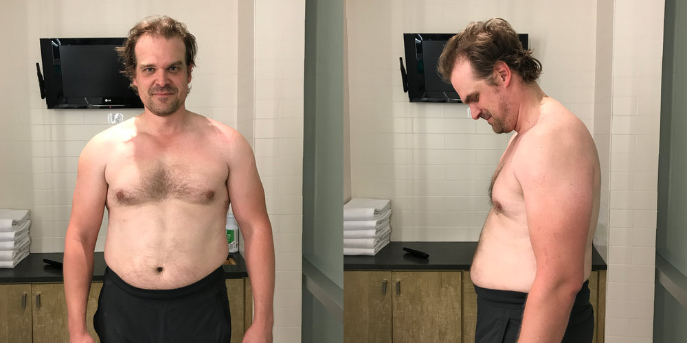 David Harbour Workout 2