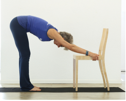 Downward Dog Using a Chair