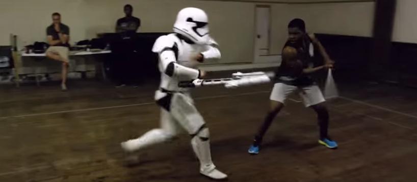 Boyega Star Wars Workout Sword Fighting