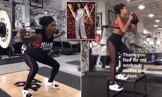 Gabrielle Union Workout 1
