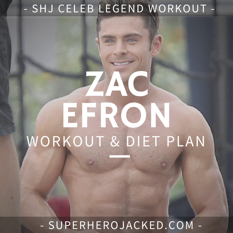 Zac Efron Workout Routine and Diet