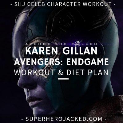 Karen Gillan Avengers_ Endgame Workout and Diet