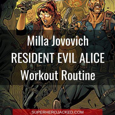 Milla Jovovich Alice Workout