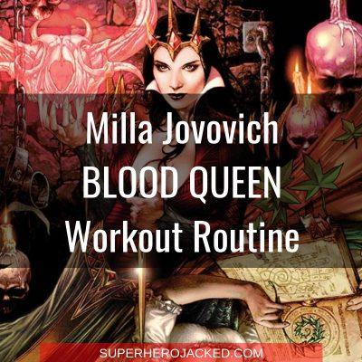Milla Jovovich Blood Queen Workout