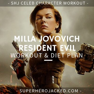 Milla Jovovich Resident Evil Workout and Diet