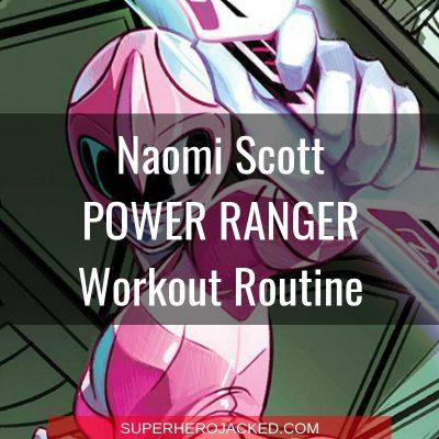 Naomi Scott Pink Power Ranger Workout