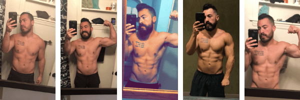 59fe75e2ba3b9 This specific guinea pig transformation story was 3 months apart from each  program as follows: Bulk and Strength, Cut and Shred, Body Recomp, and  Bodyweight ...