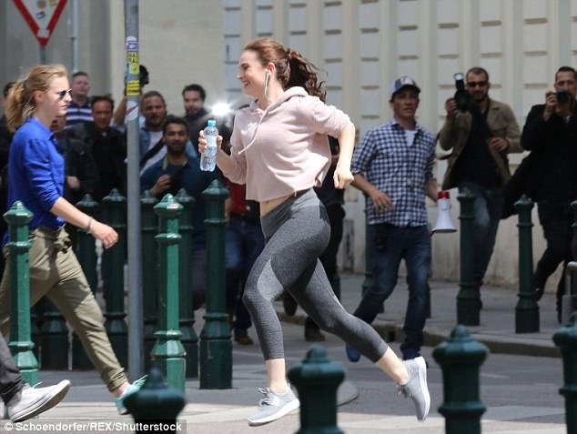 Lily James Workout 1