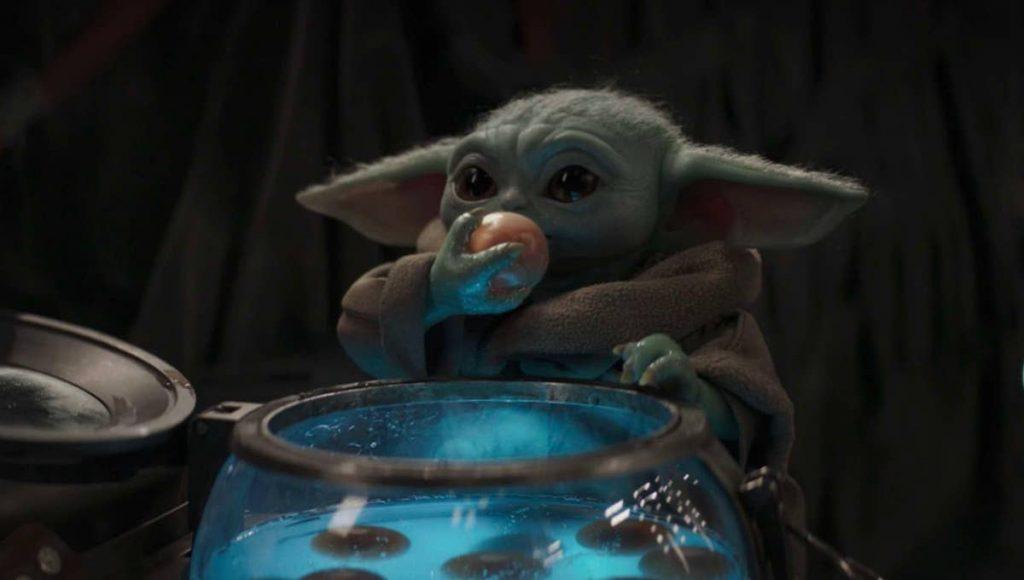 Baby Yoda Eating