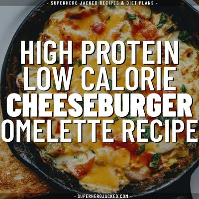 high protein low calorie cheeseburger omelette recipe